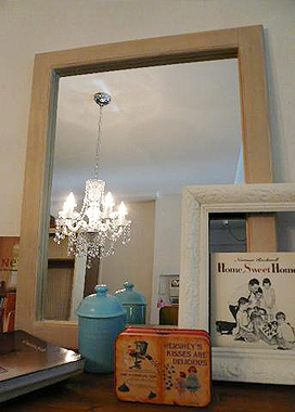 シャビーシック 鏡|インテリア家具